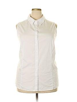 Jessica London Sleeveless Button-Down Shirt Size 26 (Plus)