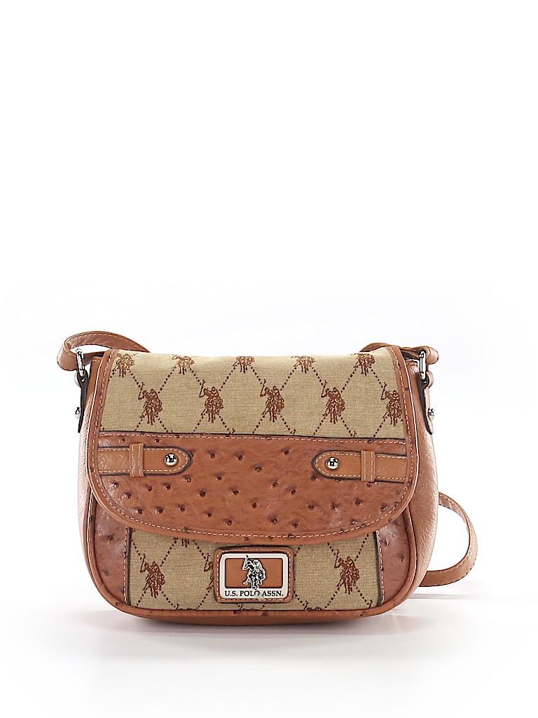 b31ce876d9 U.S. Polo Assn. Print Brown Crossbody Bag One Size - 66% off