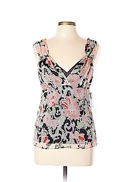 Tahari Short Sleeve Silk Top Size L