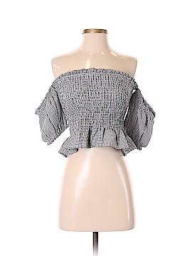 A. Peach Short Sleeve Top Size S