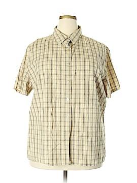 Crossroads Short Sleeve Button-Down Shirt Size 22 (Plus)