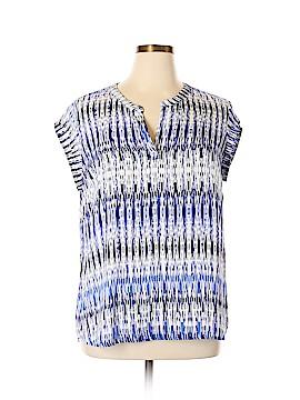 Hilary Radley Short Sleeve Blouse Size XL