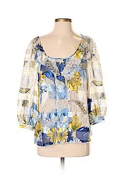 Leifsdottir 3/4 Sleeve Silk Top Size 4