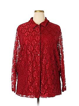 Kathie Lee Long Sleeve Blouse Size 26 (Plus)