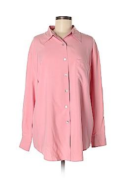 Neiman Marcus Long Sleeve Silk Top Size L