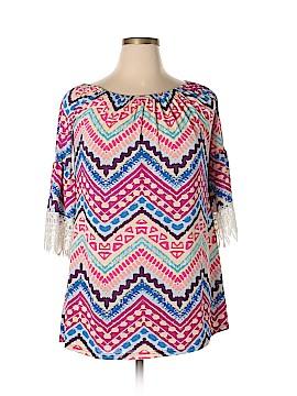 Win Win Short Sleeve Blouse Size Lg-XL