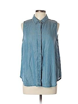 Velvet Heart Sleeveless Button-Down Shirt Size L