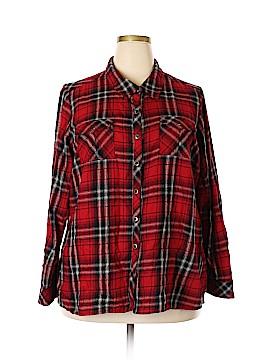 CB Long Sleeve Button-Down Shirt Size 2X (Plus)