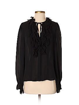 Nanette Lepore Long Sleeve Silk Top Size 4