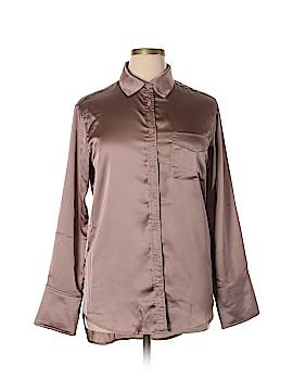Ecru Long Sleeve Blouse Size L