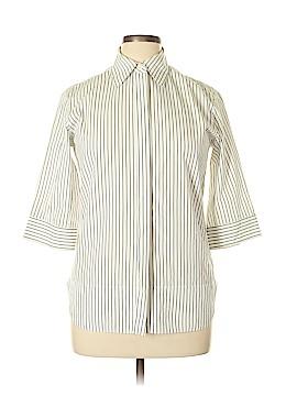 Yves Saint Laurent 3/4 Sleeve Button-Down Shirt Size 44 (FR)