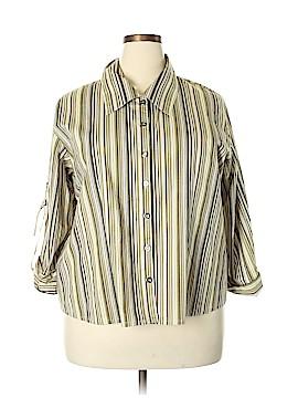 Solo Long Sleeve Button-Down Shirt Size 3X (Plus)
