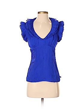 Catherine Malandrino Short Sleeve Silk Top Size 4