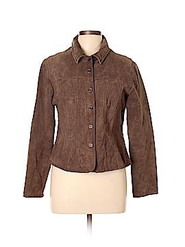 Live A Little Leather Jacket Size L (Petite)