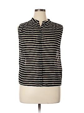 J. Crew Sleeveless Button-Down Shirt Size 12