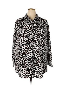 Cj Banks Long Sleeve Button-Down Shirt Size 3X (Plus)