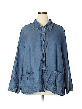 Cherokee Long Sleeve Button-Down Shirt Size 3X (Plus)