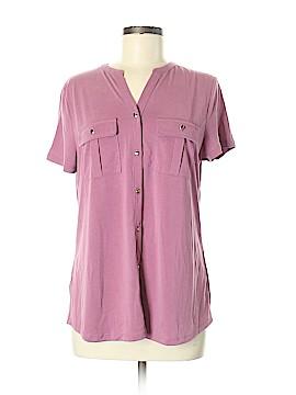 Croft & Barrow Short Sleeve Button-Down Shirt Size M