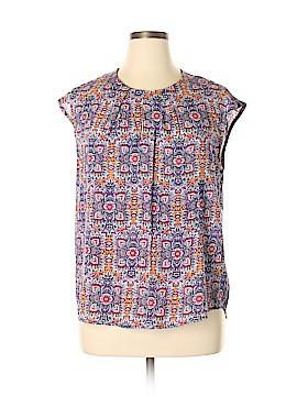 Adrienne Vittadini Short Sleeve Blouse Size L