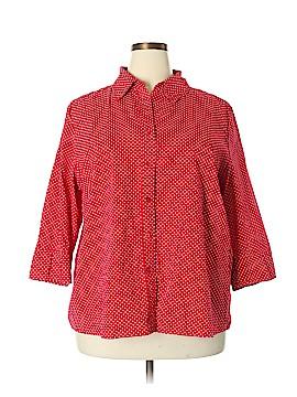 Kim Rogers 3/4 Sleeve Button-Down Shirt Size 2X (Plus)