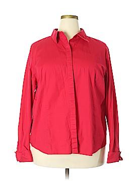 Chadwicks Long Sleeve Button-Down Shirt Size 22 (Plus)