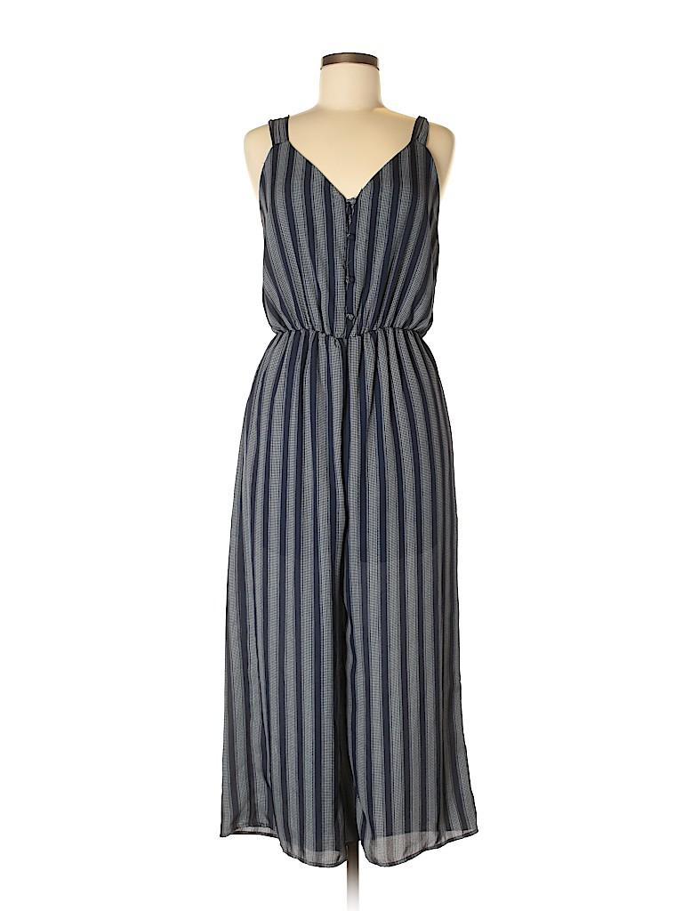 8f34043ea903 Sienna Sky 100% Polyester Stripes Dark Blue Jumpsuit Size L - 58 ...