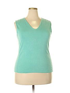 Carlisle Sleeveless Silk Top Size XXL