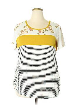 Discreet Short Sleeve Top Size 3X (Plus)