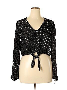 Xhilaration Long Sleeve Blouse Size XL
