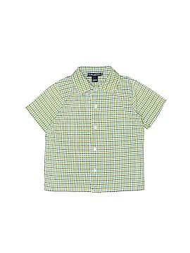 Oscar De La Renta Short Sleeve Button-Down Shirt Size 18 mo