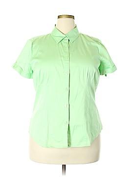 Van Heusen Short Sleeve Button-Down Shirt Size XXL