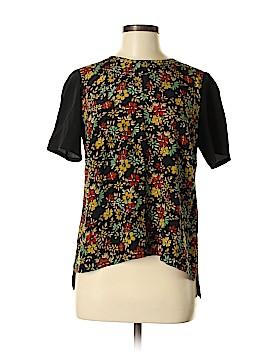 Nieves Lavi Short Sleeve Silk Top Size M