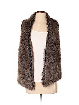 Joseph A. Faux Fur Vest Size XS