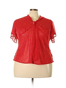 Jaclyn Smith Short Sleeve Blouse Size 2X (Plus)