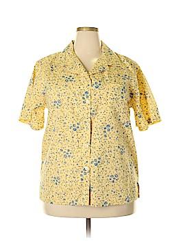 Bobbie Brooks Short Sleeve Button-Down Shirt Size 18 - 20w (Plus)