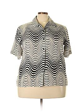 Voir Voir Short Sleeve Blouse Size 2X (Plus)