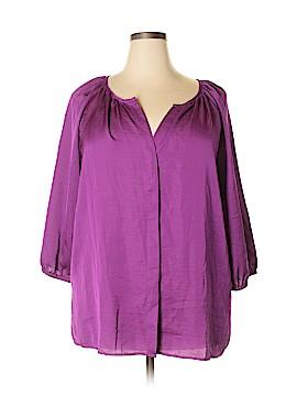 Talbots 3/4 Sleeve Blouse Size 20w (Plus)