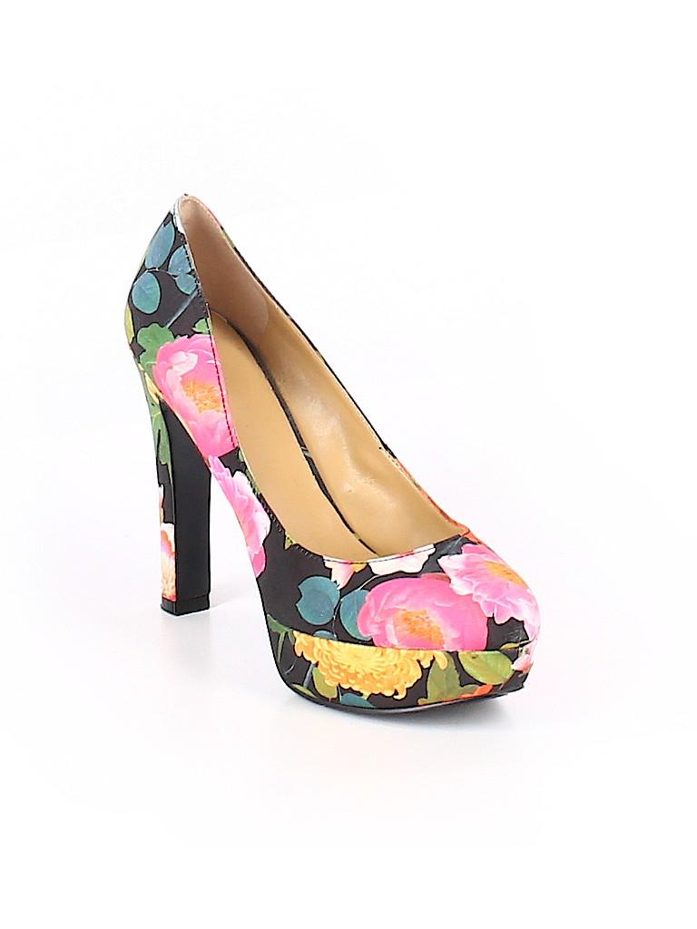 21d9e89a3ac0e6 Nine West Floral Pink Heels Size 7 1 2 - 63% off