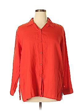 Eileen Fisher Long Sleeve Button-Down Shirt Size L