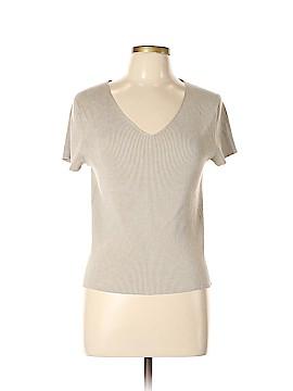 Liz Claiborne Short Sleeve Silk Top Size L