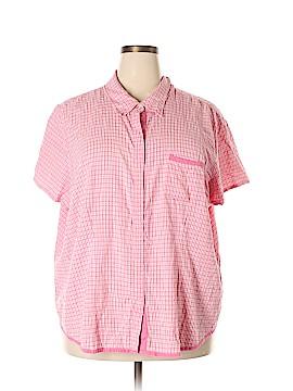 Fashion Bug Short Sleeve Button-Down Shirt Size 30 (Plus)