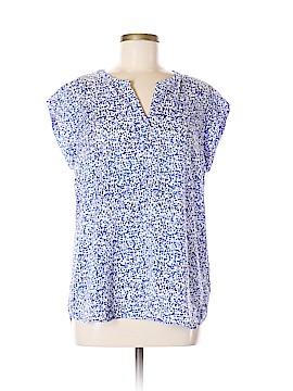 Hilary Radley Short Sleeve Blouse Size M