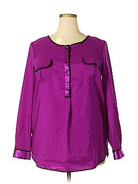 Daisy Fuentes Long Sleeve Blouse Size XL