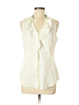 White House Black Market Sleeveless Button-Down Shirt Size 8