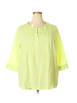 J.jill 3/4 Sleeve Blouse Size 2X (Plus)