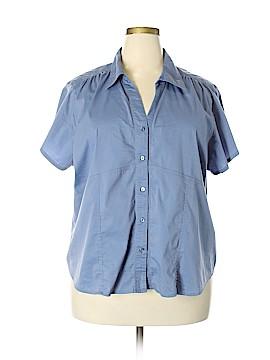 Fashion Bug Short Sleeve Button-Down Shirt Size 26 - 28 (Plus)