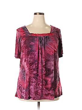 Fashion Bug Short Sleeve Blouse Size 18 (Plus)