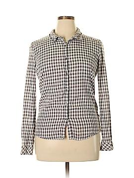 Garnet Hill Long Sleeve Button-Down Shirt Size 16