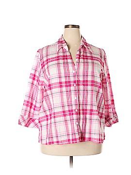 Joanna Plus 3/4 Sleeve Button-Down Shirt Size 3X (Plus)