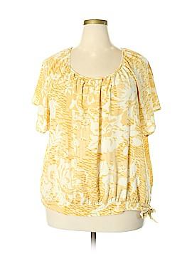 SONOMA life + style Short Sleeve Blouse Size 3X (Plus)